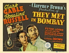 They Met in Bombay 1941 DVD - Clark Gable / Rosalind Russell